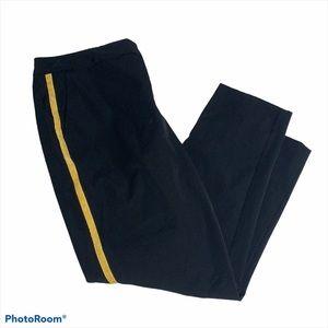 Worthington Black and Gold Tuxedo Trouser Pants
